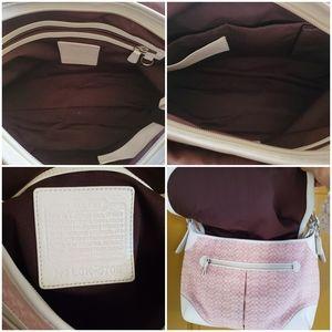 Coach pink/wht diaper/messanger crossbody bag